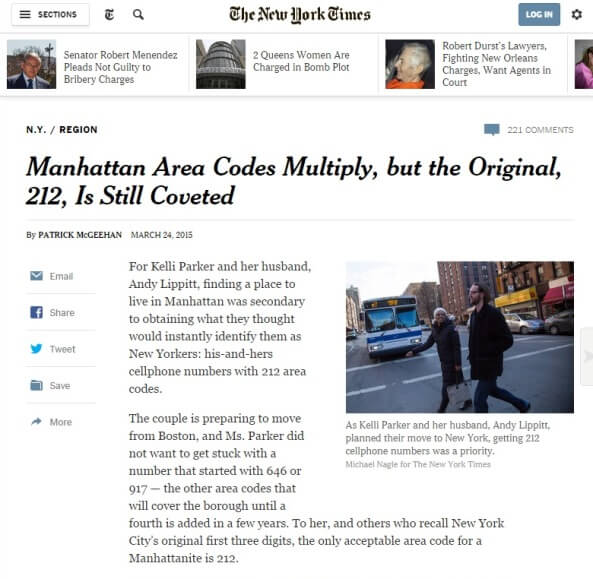Featured in The NY Times